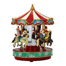 animated and illuminated disney carousel by mr christmas