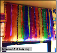 a spoonful learning diy classroom curtains no sewing or gluing