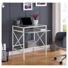 keyboard tray for glass desk study compact design with the aiden lane holmes small space desk