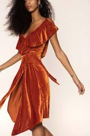 velvet dress tie front velvet dress aéryne