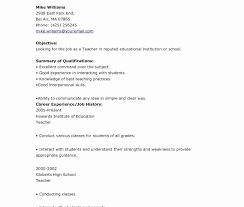 educational resume template teaching resume sles best of free teaching resume template