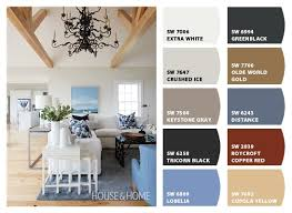 Blue Grey And White Living Room Color Palette Setting For Four - Color palette living room