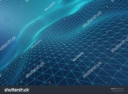 Light Blue Abstract Light Blue Grid Waves Tech Stock Illustration 636327359