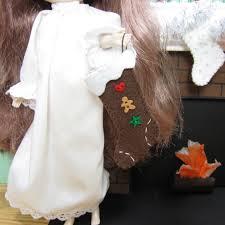 miniature gingerbread christmas stocking hand stitched felt