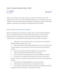 download server cluster guide for windows 2003 server docshare tips