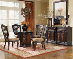 round glass top dining room table kitchen furniture round glass top dining tables with dark brown