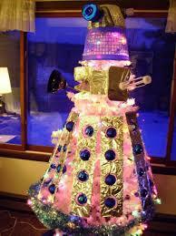 crazy christmas tree lights crazy dalek christmas tree exterminates holiday cheer
