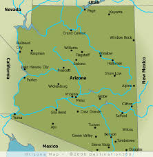 map of az arizona map arizona state map