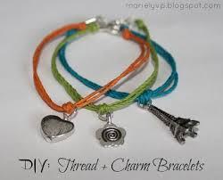 diy bracelet with charm images Diy thread charm bracelets pinterest simple bracelets diy jpg