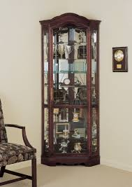 curio cabinet singular wall mounted corner curioinet picture