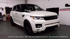 white land rover 2014 range rover sport wrapped in satin pearl white by dbx