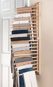 Ideas For Wall Mounted Tie Rack Design New Wall Mount Trouser Pant Closet Organization Rack Storage Home