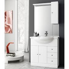 32 inch glossy white bathroom vanity set acf lon02 thebathoutlet