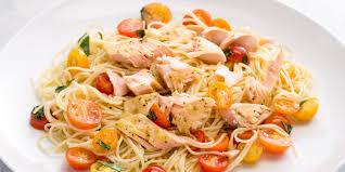 the best baked salmon pasta recipe baked salmon angel hair pasta