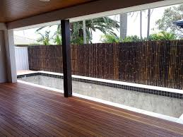 decorating interesting exterior home design with bamboo fence