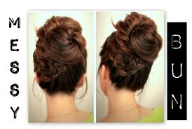 cute everyday hairstyles big messy bun with braids