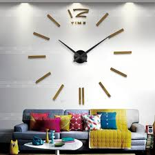 Decorative Wall Clocks For Living Room Muhsein Home Decoration Big Mirror Wall Clock Modern Design 3d Diy