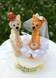 cake figurines llama custom wedding cake topper wedding cake figurines