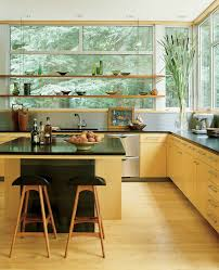 agreeable kitchen breakfast bar window come with glass fixed