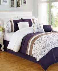 Plum Bed Set Donna Plum 7 Pc Embroidered Comforter Set Bed In A