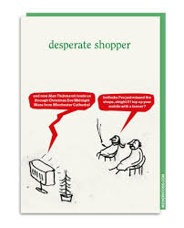 humorous christmas cards desperate shopper humorous christmas card by modern toss 2 75