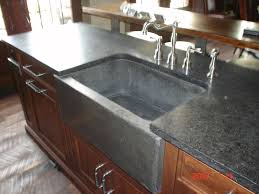 hand crafted farm sink and slab by rock and a hard place concrete