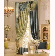 room darkening curtains country elegant floral jacquard no valance