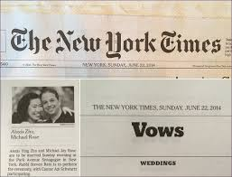 new york times weddings new york times wedding tbrb info