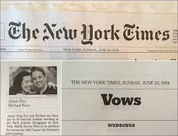 new york times weddings new york times wedding tbrb info