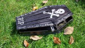 how to make halloween yard decorations halloween paint stick coffin the home depot community
