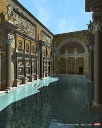 ancient roman baths thermae baths of caracalla diocletian