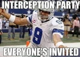Romo Interception Meme - the internet roasted the dallas cowboys and quarterback tony romo