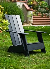 Recycled Adirondack Chairs Exterior Design Black Adirondack Chair By Loll Designs For