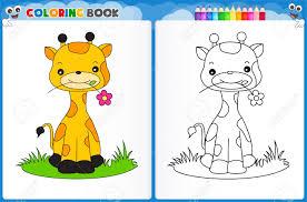 imagenes de jirafas bebes animadas para colorear inspirador dibujos infantiles de jirafas a color