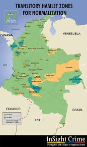 Map Of Michoacan Mexico by Farc Concentration Zones May Help Prevent Recycled Violence