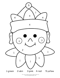 colour by number santa free coloring pages of color by number