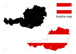 austria map vector austria map vector austria flag vector royalty free cliparts