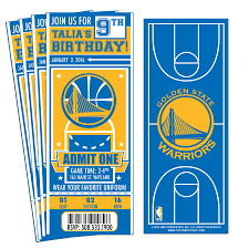 super bowl party invitation template 12 custom golden state warriors birthday party ticket invitations