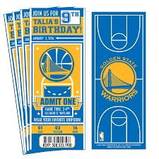 12 custom golden state warriors birthday party ticket invitations