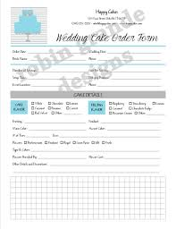 wedding cake order form wedding cake contracts idea in 2017 wedding