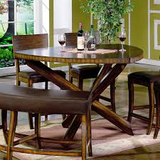 furniture modern dining space with triangle glass dining table