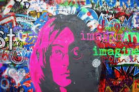 john lennon imagine graffiti wall mural muralswallpaper co uk