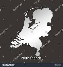 netherlandholland mapborder chromemetal shine gradient vector