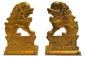 fu dog bookends brass foo dog bookends on onekingslane accessories