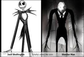 Nightmare Before Christmas Meme - jack skellington totally looks like slender man totally looks like