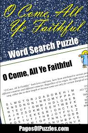 o come all ye faithful word search u2013 pages of puzzles