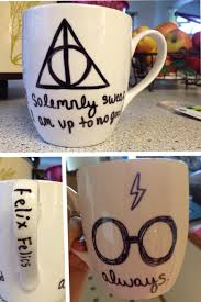 harry potter diy sharpie mug bake at 425 for 30 minutes and then