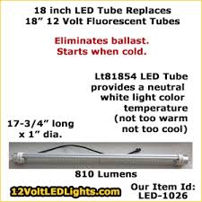 18 inch fluorescent light led replacement t8 led tube 18 inch replaces 12 volt fluorescent tube 810 lumens