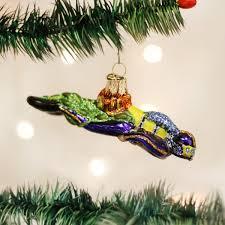 world scuba diver glass blown ornament