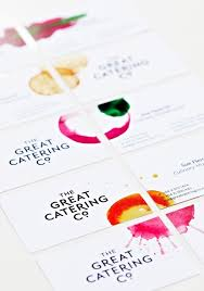 Catering Calling Card Design Design Inspiration The Great Catering Co Business Cards